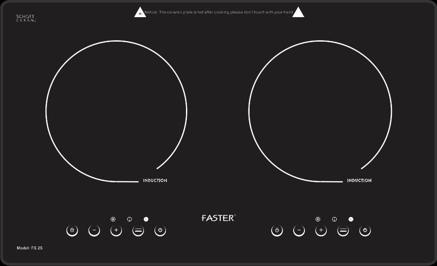 Kết quả hình ảnh cho Bếp từ Faster fs 2s
