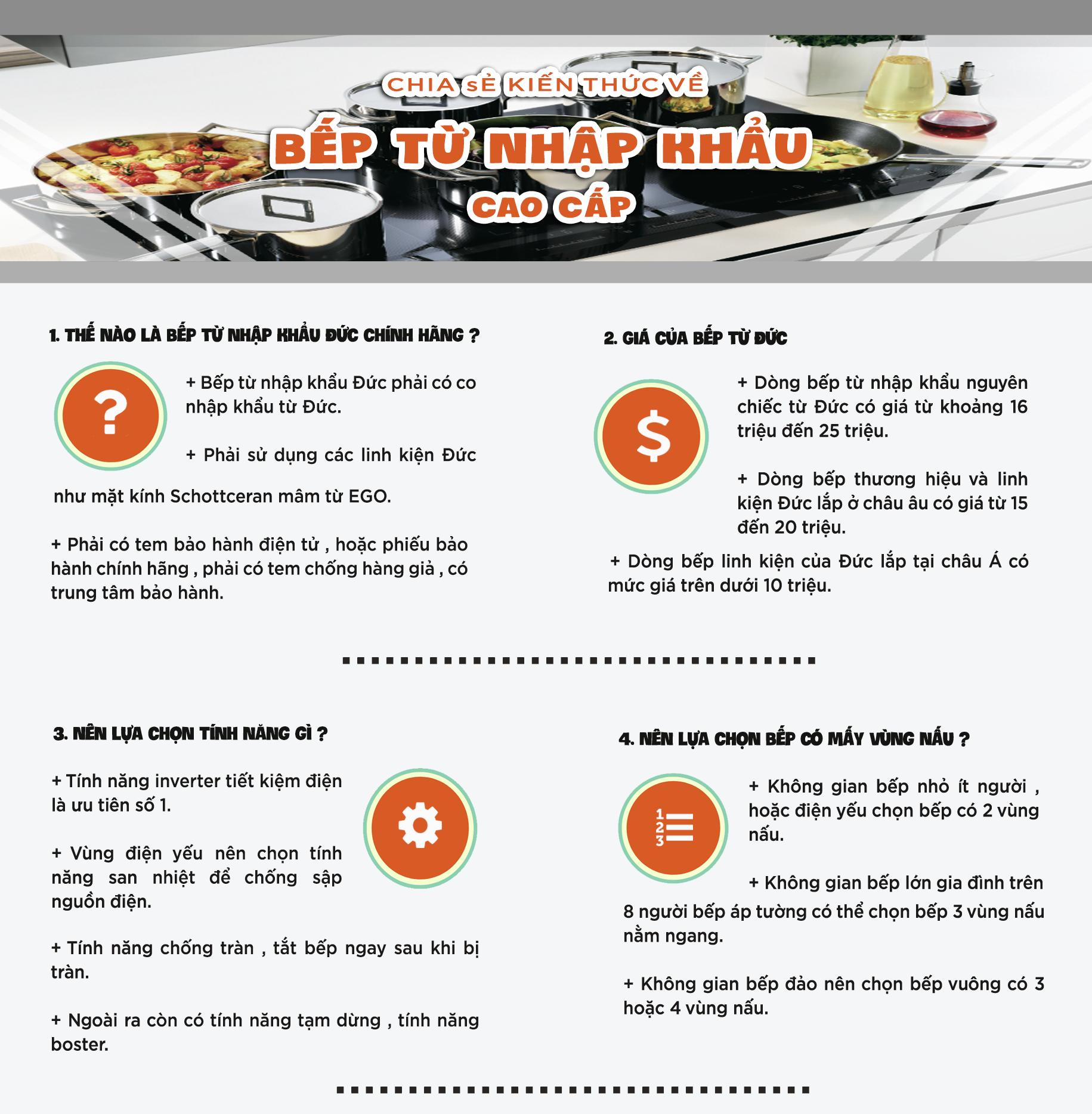 Chia sẻ kiến thức về bếp từ nhập khẩu cao cấp