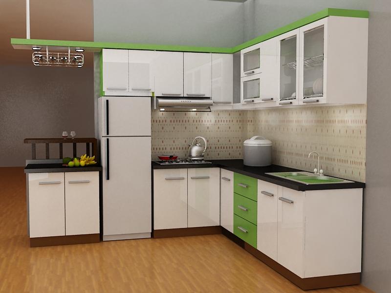 Tủ bếp gỗ CN giá rẻ 1