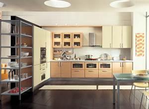 Tủ bếp gỗ sồi mỹ 09
