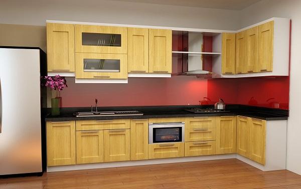 Tủ bếp gỗ Tần bì cao cấp